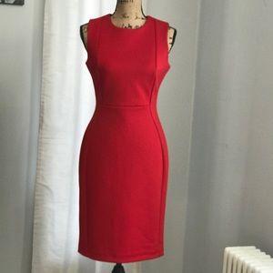NWOT Calvin Klein red bodycon dress size 6